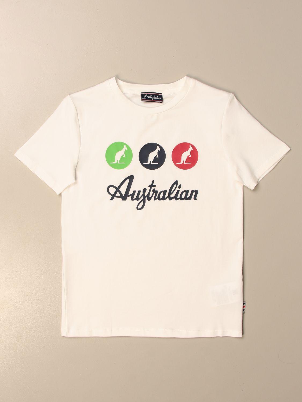 Camiseta Australian: Camiseta niños Australian blanco 1