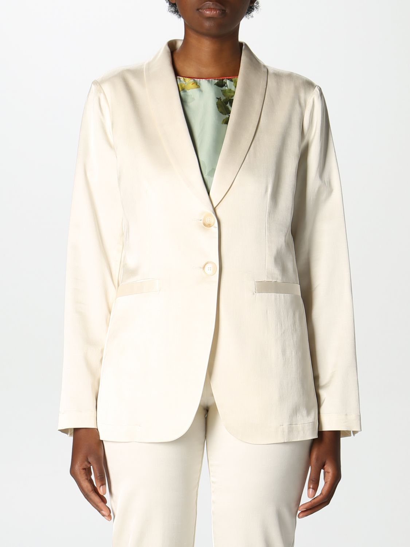 Blazer Semicouture: Jacke damen Semicouture weiß 1