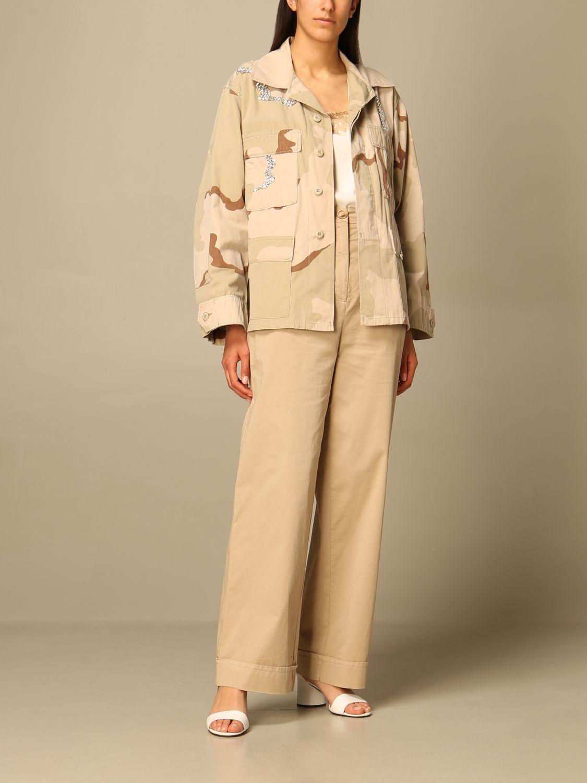 Hose Semicouture: Hose damen Semicouture beige 2