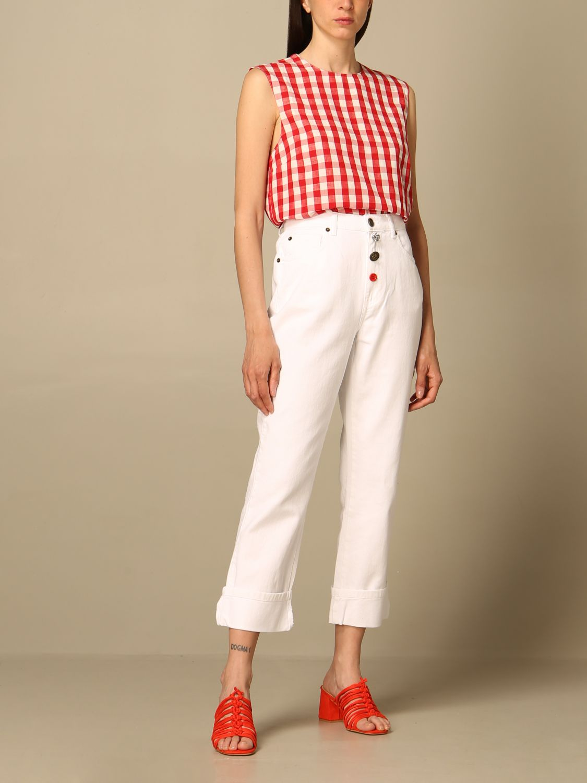 Top Semicouture: Pullover damen Semicouture rot 2