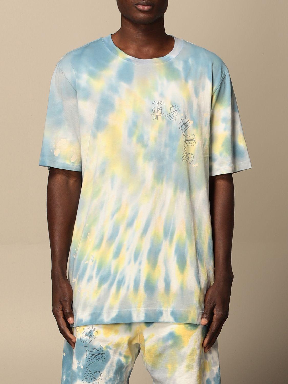T-shirt Danilo Paura: T-shirt Danilo Paura in cotone tie dye blue 1