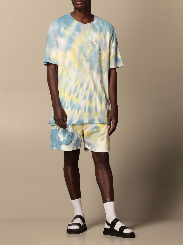 T-shirt Danilo Paura: T-shirt Danilo Paura in cotone tie dye blue 2