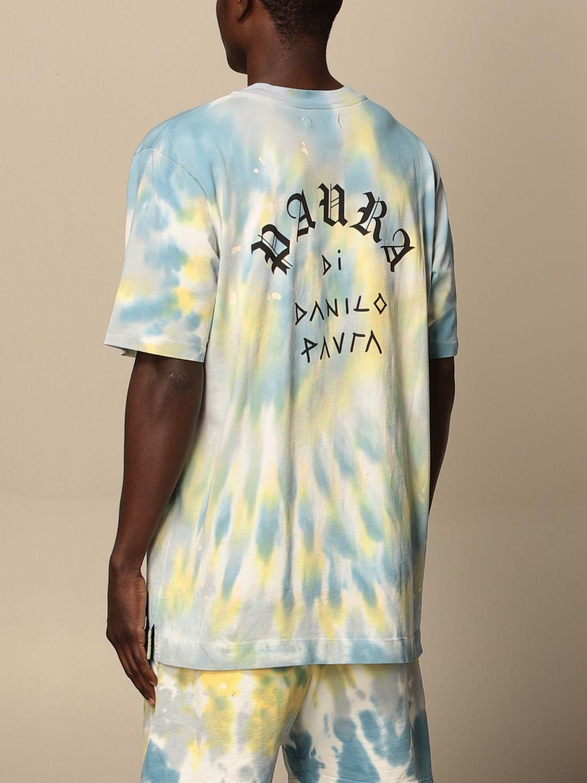 T-shirt Danilo Paura: T-shirt Danilo Paura in cotone tie dye blue 3