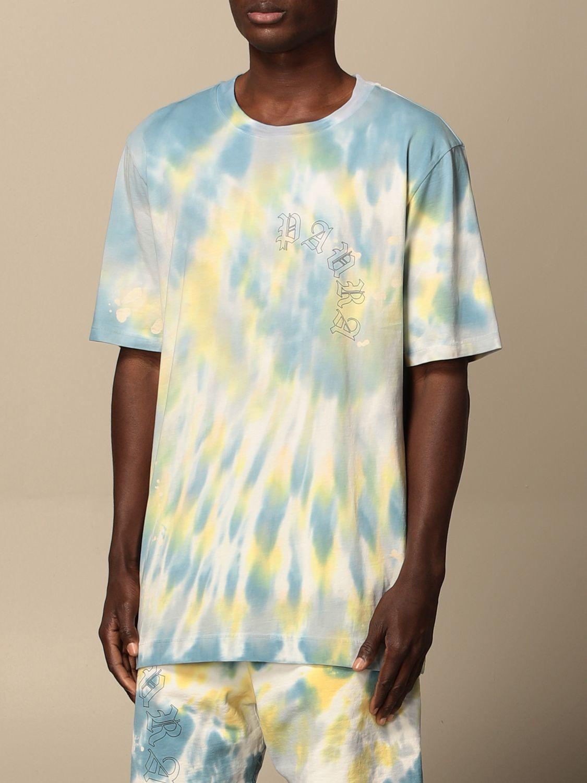 T-shirt Danilo Paura: T-shirt Danilo Paura in cotone tie dye blue 4