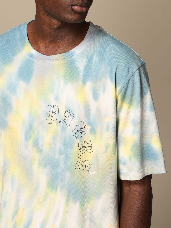 T-shirt Danilo Paura: T-shirt Danilo Paura in cotone tie dye blue 5