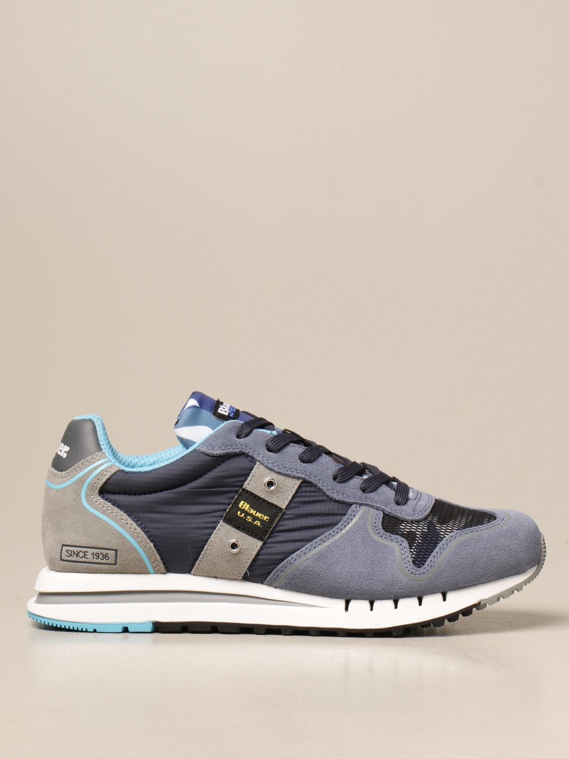 Trainers Blauer: Trainers men Blauer gnawed blue 1