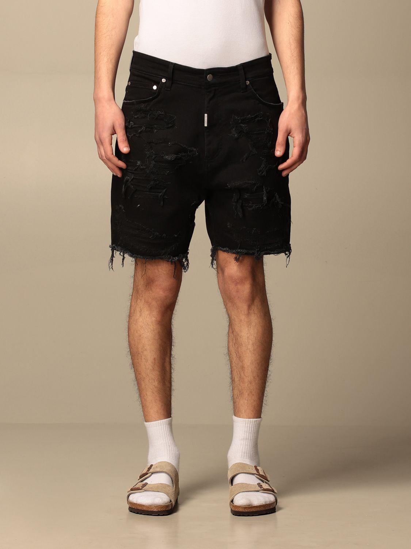 短裤 Represent: 牛仔裤 男士 Represent 黑色 1