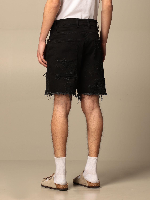 短裤 Represent: 牛仔裤 男士 Represent 黑色 2