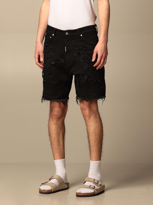 短裤 Represent: 牛仔裤 男士 Represent 黑色 3