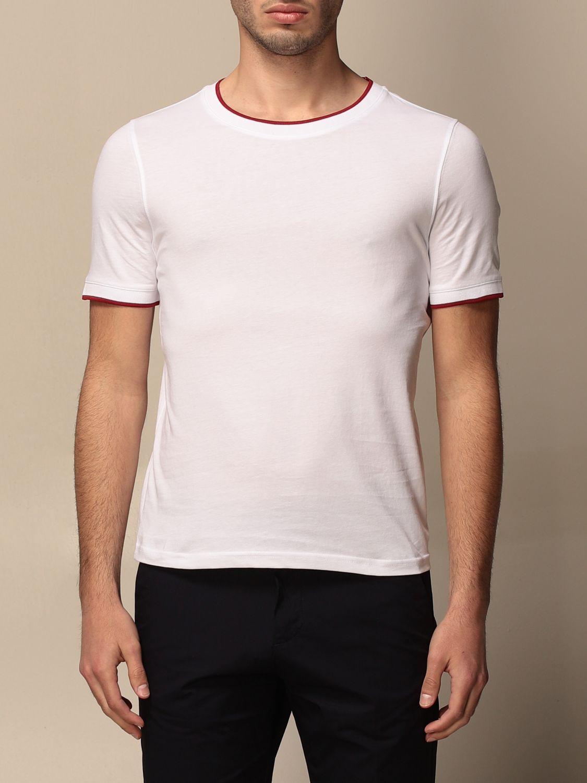 T-shirt Alpha Studio: Maglia a girocollo Alpha Studio bianco 1