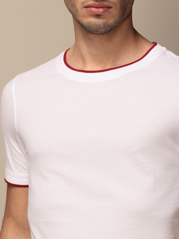 T-shirt Alpha Studio: Maglia a girocollo Alpha Studio bianco 3