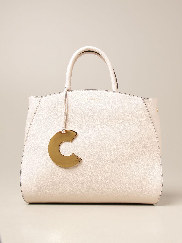 Handtasche Coccinelle: Handtasche damen Coccinelle weiß 1