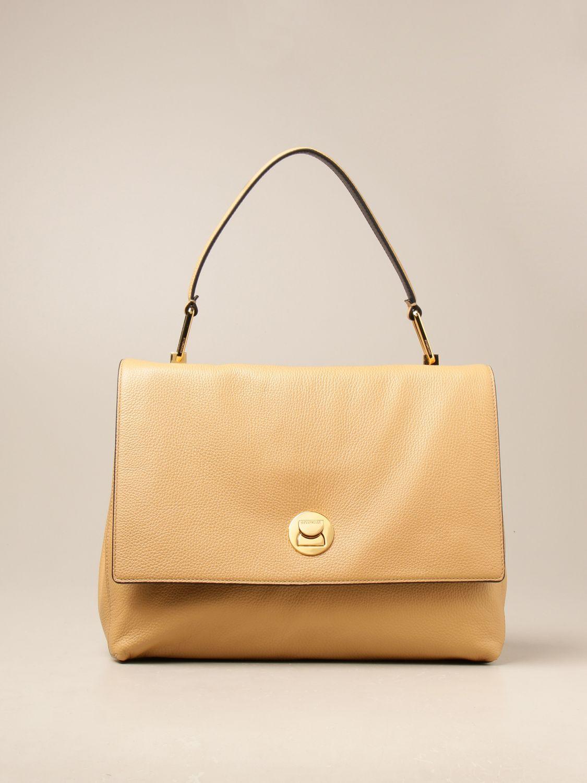 Schultertasche Coccinelle: Handtasche damen Coccinelle beige 1