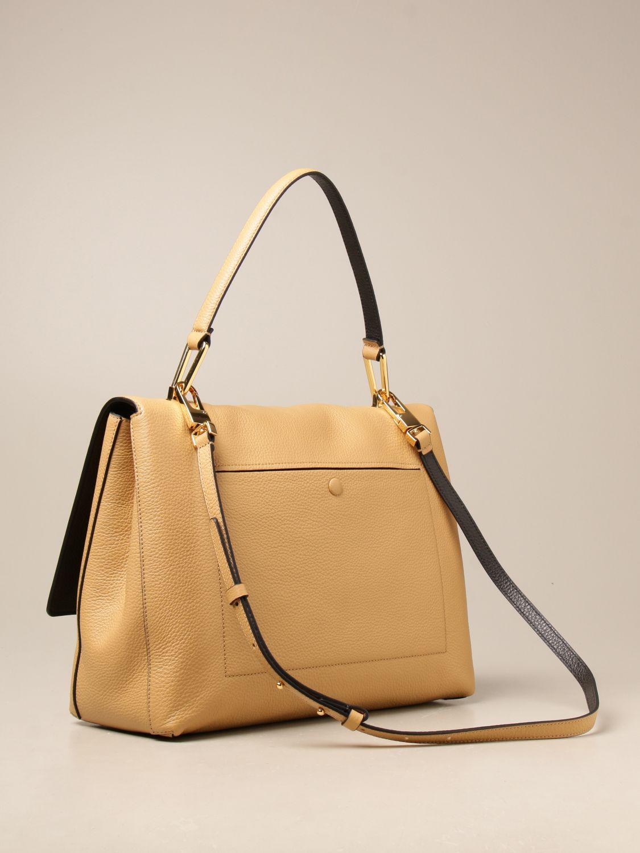Schultertasche Coccinelle: Handtasche damen Coccinelle beige 2