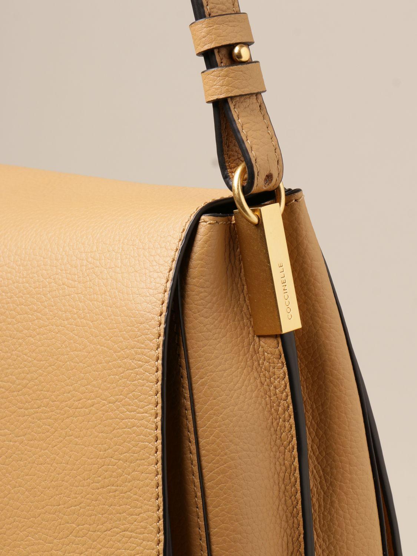 Schultertasche Coccinelle: Schultertasche damen Coccinelle beige 3