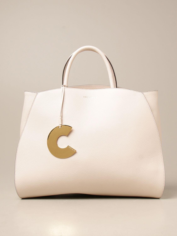 Handtasche Coccinelle: Schultertasche damen Coccinelle weiß 1