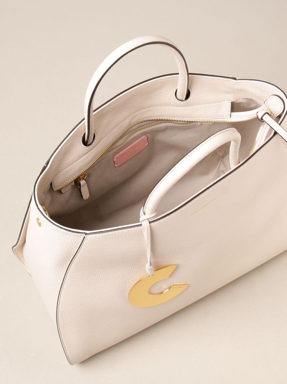Handtasche Coccinelle: Schultertasche damen Coccinelle weiß 3