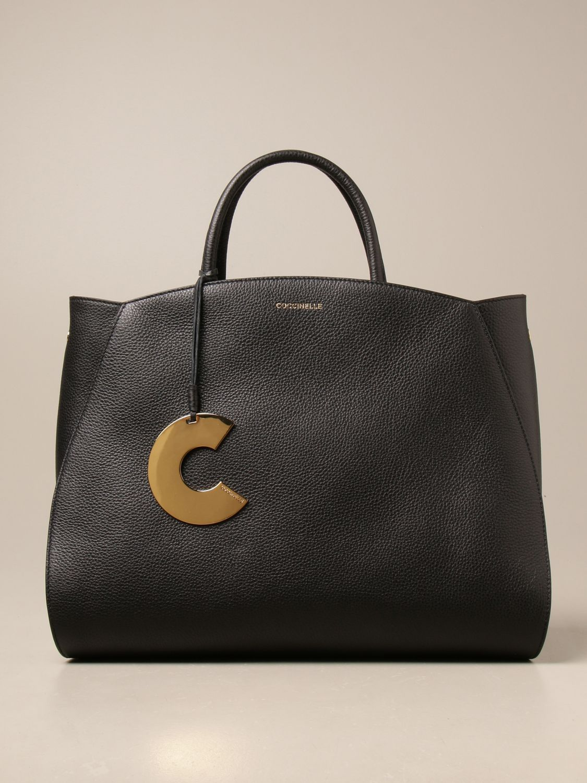 Handtasche Coccinelle: Schultertasche damen Coccinelle schwarz 1