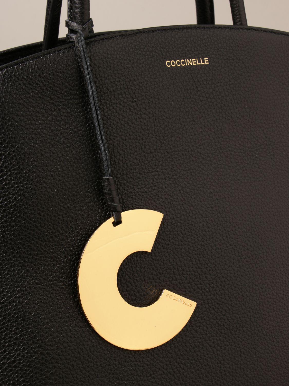 Handtasche Coccinelle: Schultertasche damen Coccinelle schwarz 3