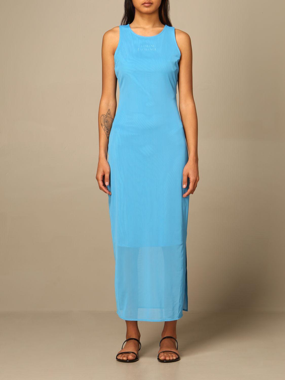 Armani Exchange Kleid Damen Kleid Armani Exchange Damen Blau Kleid Armani Exchange 3kya95 Yj9nz Giglio De