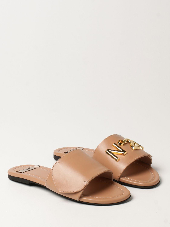 Flache Sandalen N° 21: Flache sandalen damen N° 21 pink 2