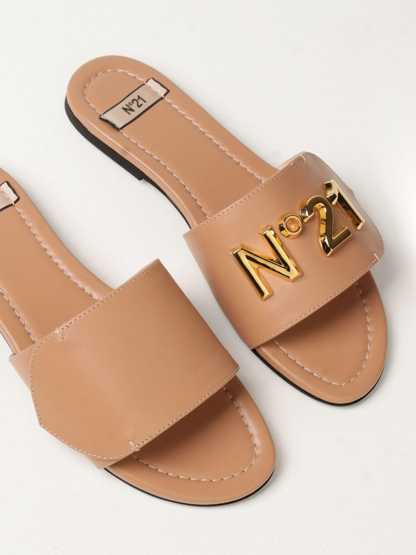 Flache Sandalen N° 21: Flache sandalen damen N° 21 pink 4