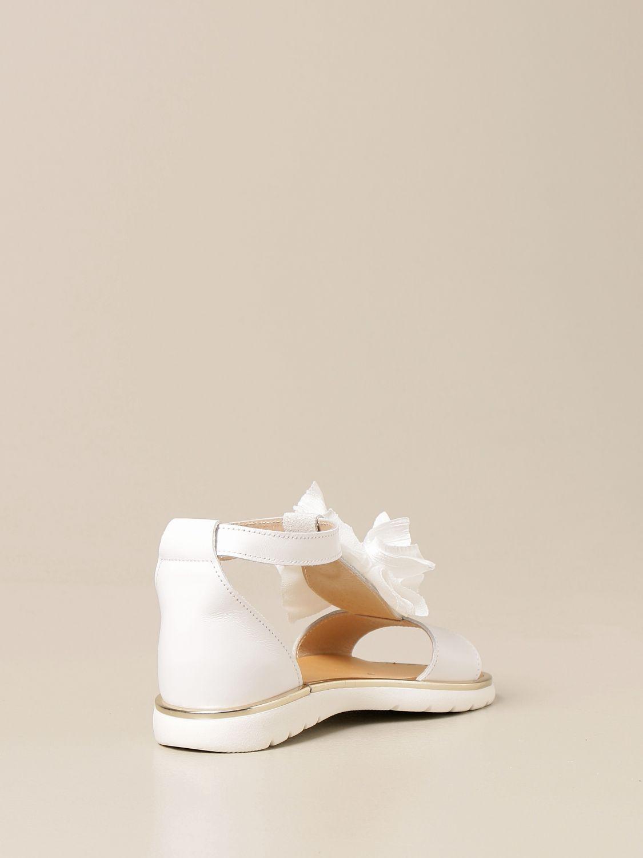 Shoes Babywalker: Babywalker sandal in leather with flower white 3