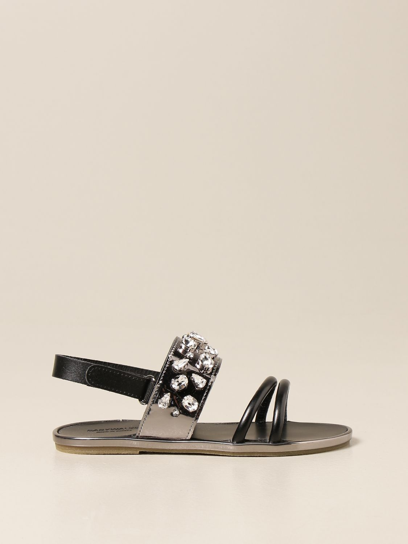 Scarpe Babywalker: Sandalo Babywalker con strass nero 1