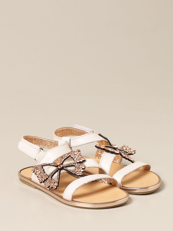 Scarpe Babywalker: Sandalo Babywalker in pelle con farfalla bianco 2