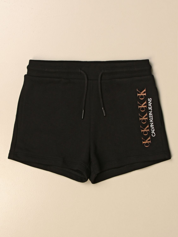 Pantalón corto Calvin Klein: Pantalón corto niños Calvin Klein negro 1