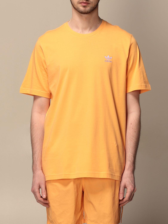 T-shirt Adidas Originals: T-shirt Adidas Originals con logo albicocca 1