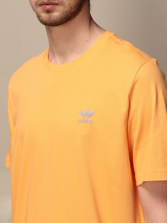T-shirt Adidas Originals: T-shirt Adidas Originals con logo albicocca 3