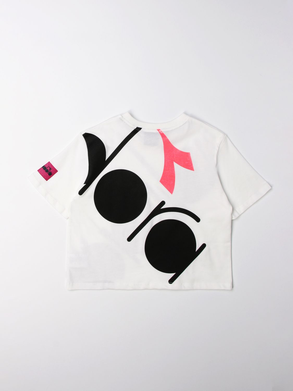 Camisetas Diadora: Camisetas niños Diadora blanco 2