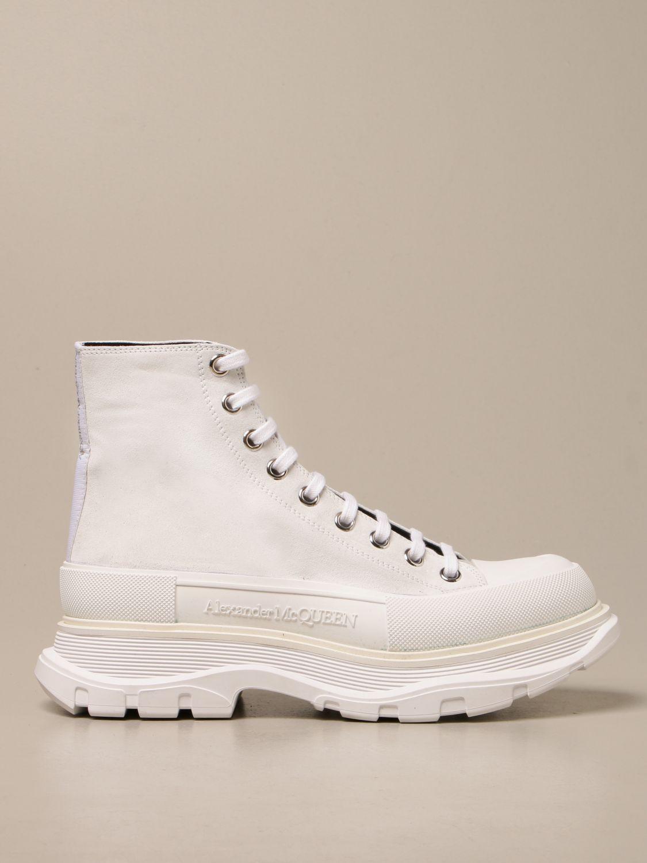 Sneakers Alexander Mcqueen: Sneakers Alexander McQueen in pelle scamosciata bianco 1
