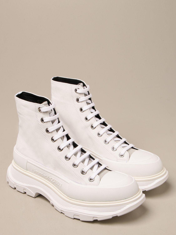 Sneakers Alexander Mcqueen: Sneakers Alexander McQueen in pelle scamosciata bianco 2