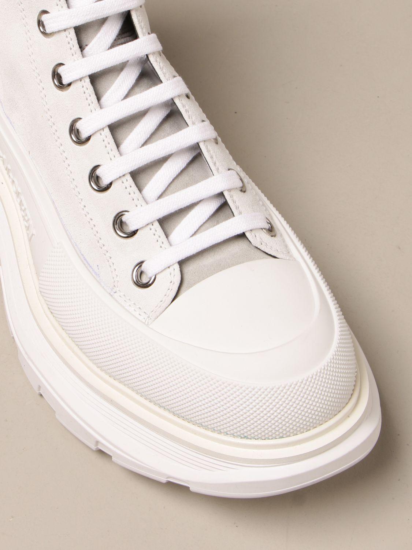 Sneakers Alexander Mcqueen: Sneakers Alexander McQueen in pelle scamosciata bianco 4