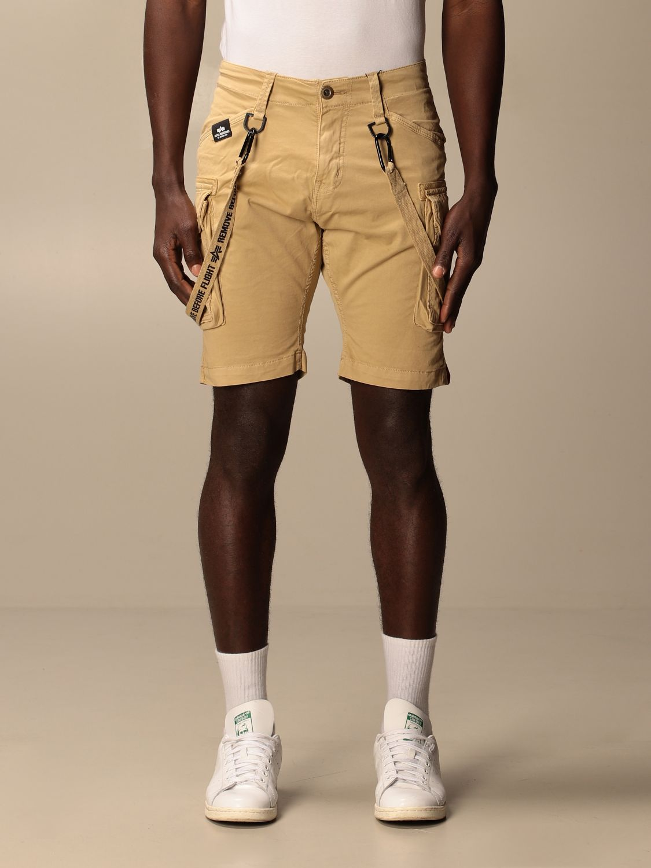 Pantaloncino Alpha Industries: Pantaloncino con nastri Alpha Industries beige 1