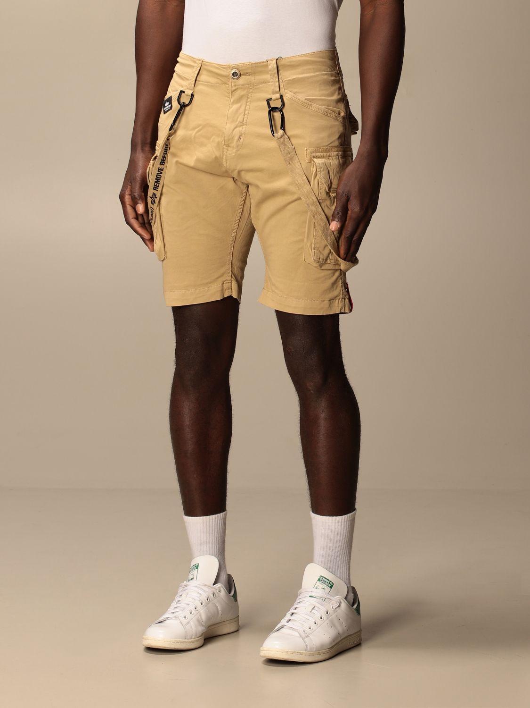 Pantaloncino Alpha Industries: Pantaloncino con nastri Alpha Industries beige 3