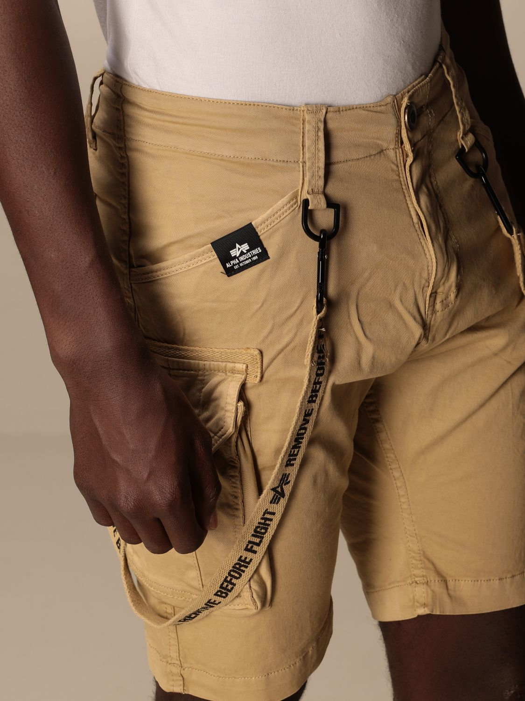 Pantaloncino Alpha Industries: Pantaloncino con nastri Alpha Industries beige 4
