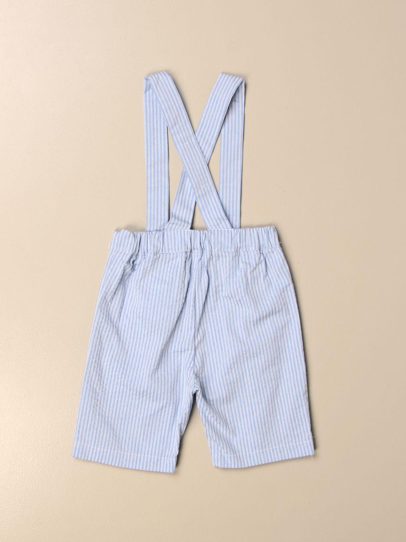 Pantaloncini Mariella Ferrari: Pantalone a salopette Mariella Ferrari a righe cielo 2