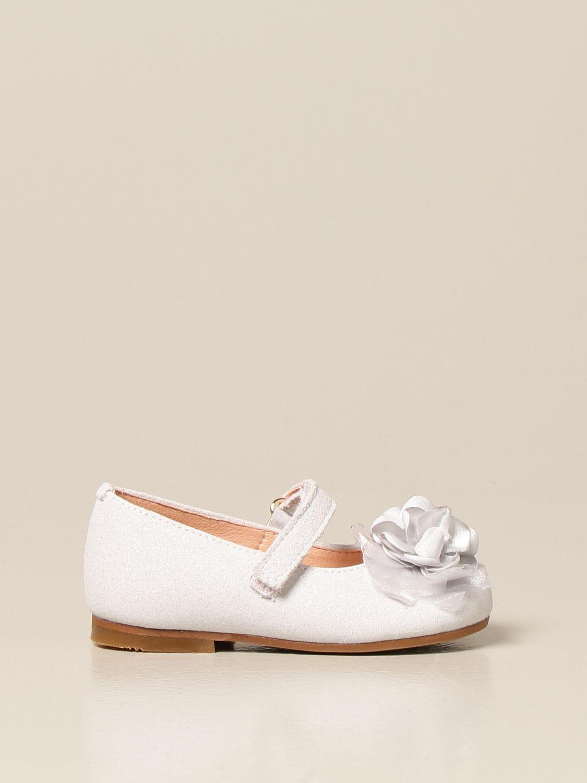 Shoes Clarys: Clarys glitter ballerina silver 1