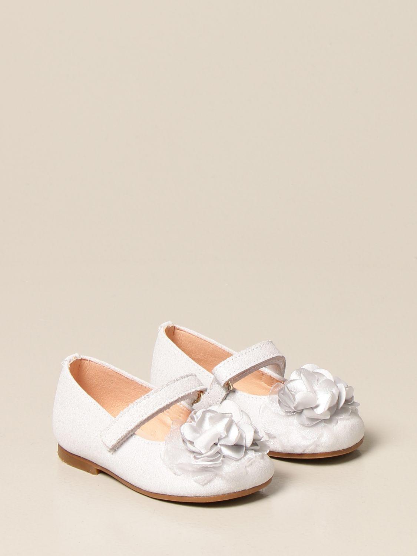 Shoes Clarys: Clarys glitter ballerina silver 2