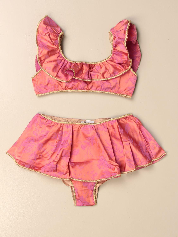 Costume Oseree: Costume a bikini Oseree a fantasia floreale arancione 1