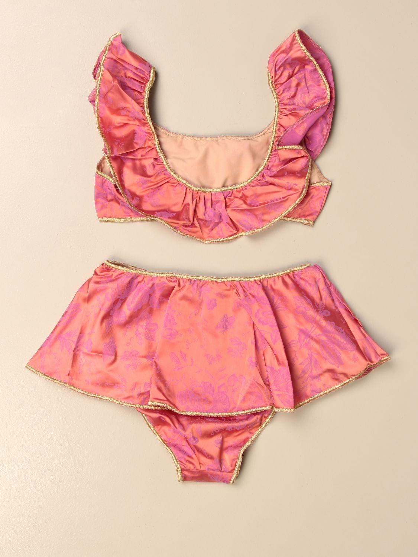 Costume Oseree: Costume a bikini Oseree a fantasia floreale arancione 2