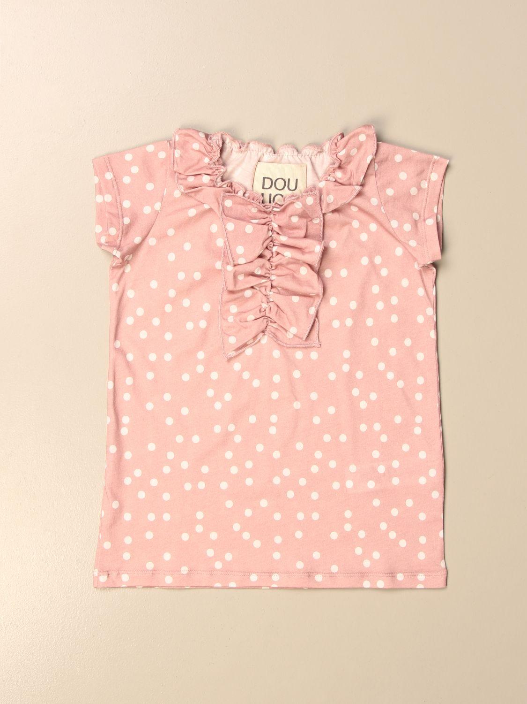 T-shirt Douuod: Douuod T-shirt in polka dot cotton blush pink 1