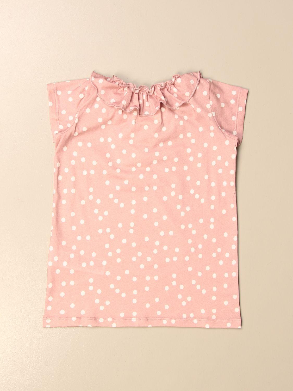 T-shirt Douuod: Douuod T-shirt in polka dot cotton blush pink 2