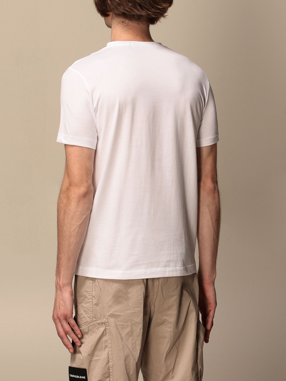 T-shirt Calvin Klein Jeans: T-shirt men Calvin Klein Jeans white 2
