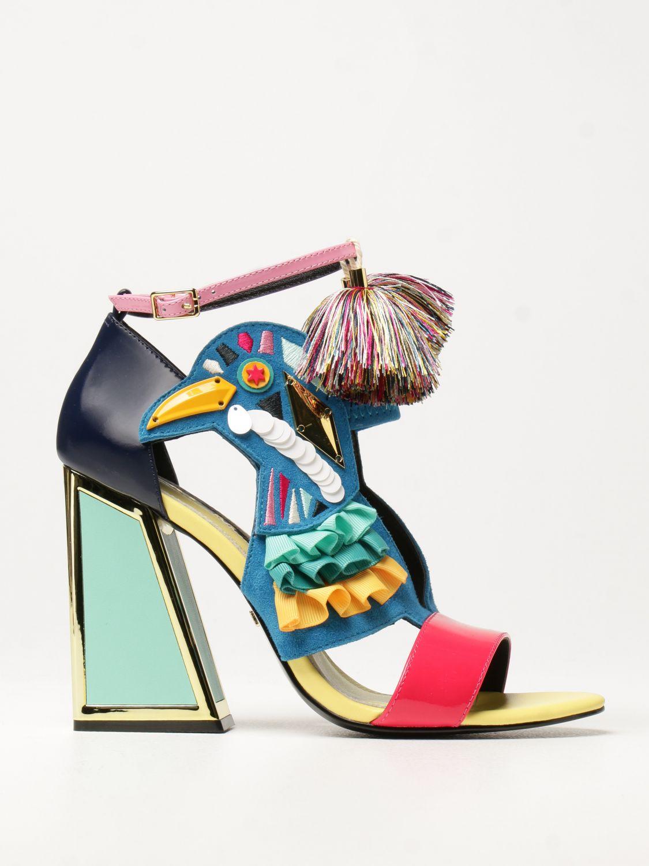 Босоножки на каблуке Kat Maconie: Босоножки на каблуке Женское Kat Maconie синий 1