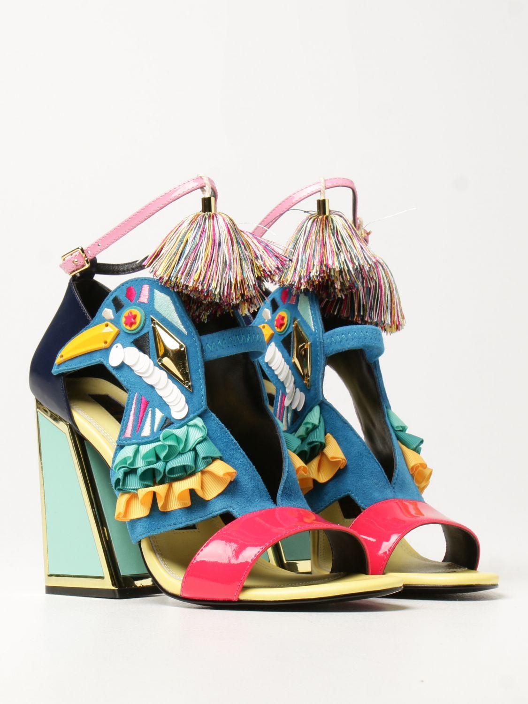 Босоножки на каблуке Kat Maconie: Босоножки на каблуке Женское Kat Maconie синий 2