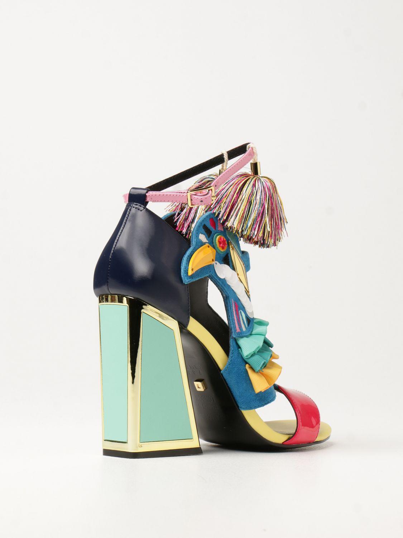 Босоножки на каблуке Kat Maconie: Босоножки на каблуке Женское Kat Maconie синий 3